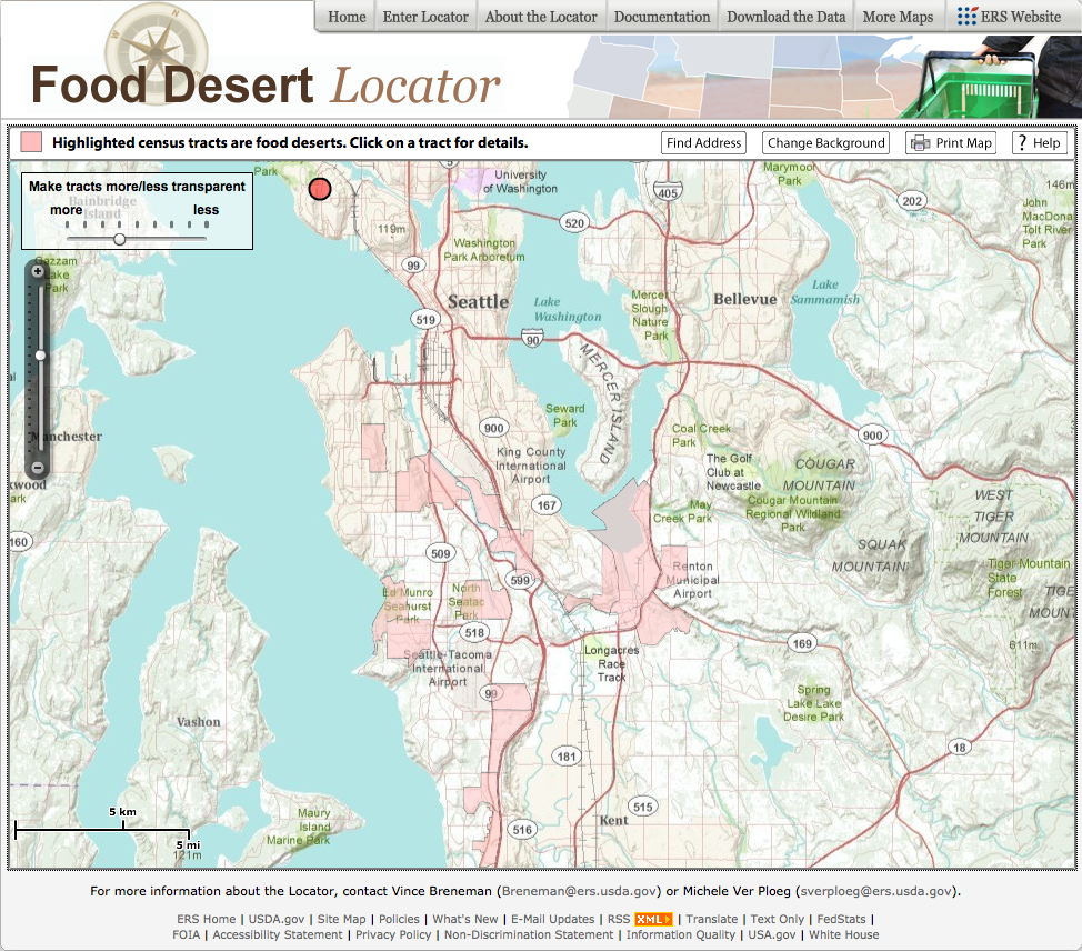 mapping . new food desert locator from the usda  goodfood world