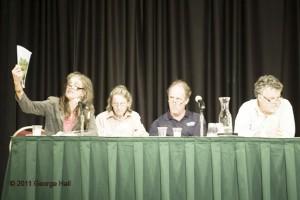 Susan Mudd, moderator and former CNU board member; Vicky Ranney, Priarie Crossing; Dan Carmody, Eastern Market Corporation; Mike Sands, Liberty Prairie Foundation