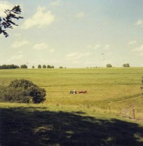 Sean baling trefoil hay