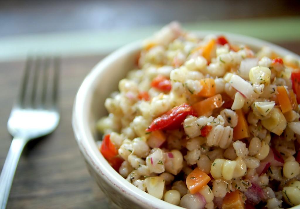 Fresh Corn and Barley Salad
