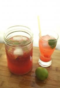 Honeyed Raspbery Limeade