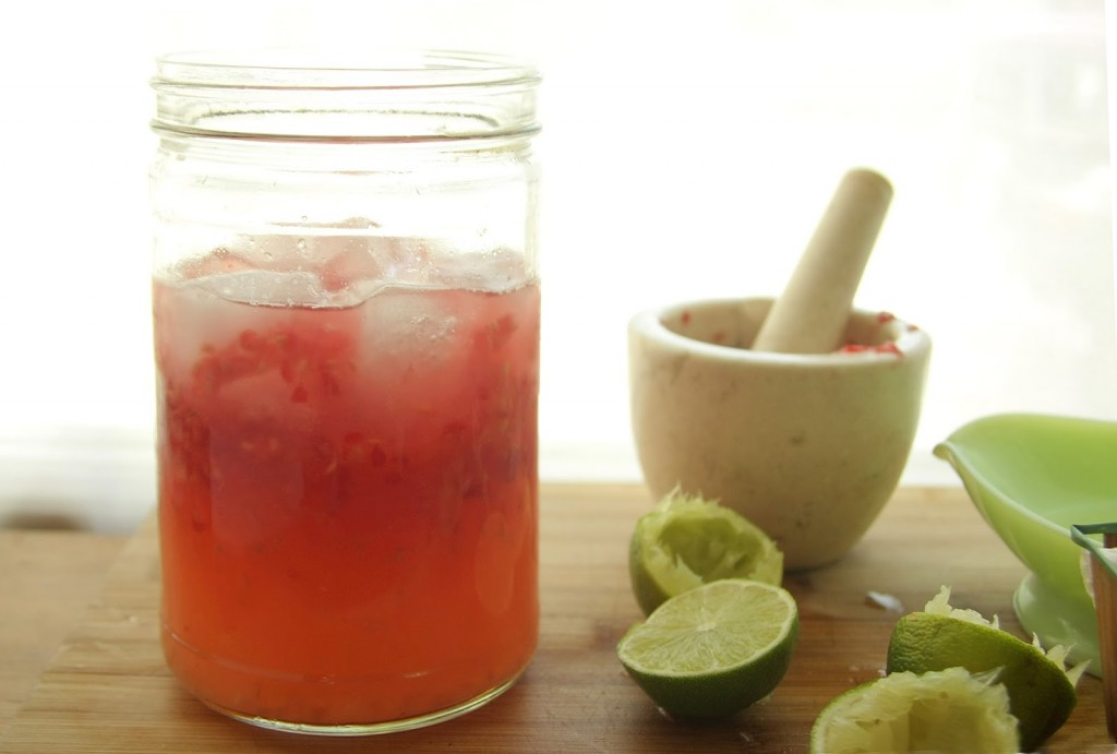 Honeyed Raspberry Limeade