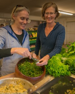Farmer Wendy Haakenson (right) and Cynthia Krass, executive director, Snoqualmie Valley Preservation Alliance (SVPA)