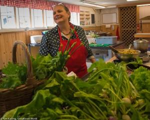 "Terrie Irish, Jubilee Farm's ""kitchen wizard"""