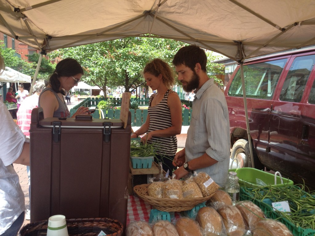 Savage River Farm booth at the Cumberland farmers market