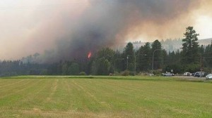 Fire next to Crown S Ranch