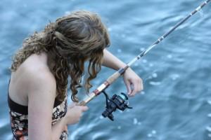 Kate Mclean goes fishing