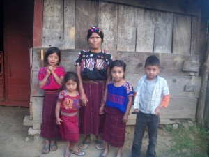 An abandoned Ixil mother and her children in Chajul.